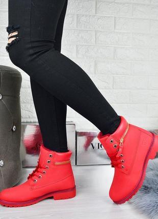 В наличии женские красные зимние ботинкы  ☑️ сезон: зима