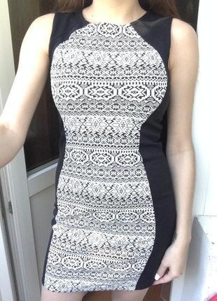 Черное платье вискоза h&m, классическое короткое теплое платье, повседневное платье