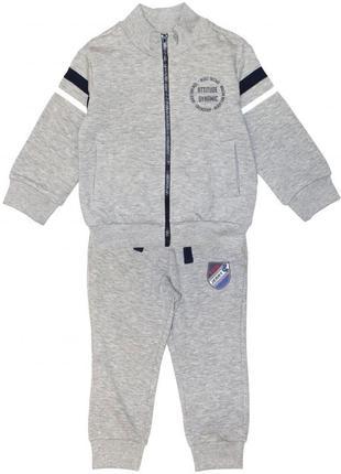 Новый спортивный серый костюм на байке для мальчика, original marines, 2833