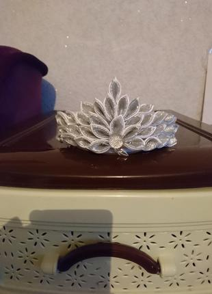 Обрус корона ручной работы