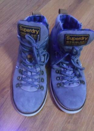 Ботинки superdry р.43 натур.замш