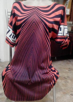 Трикотажное платье в интересную полоску