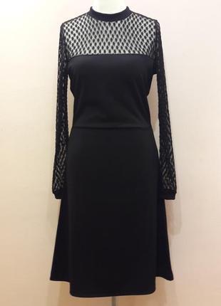 Шикарное  черное платье