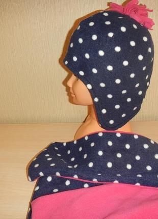 Набор шапка и шарф george р.80-98см(1-3года) флисовый