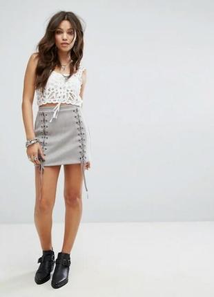 Стильная замшевая юбка missguided