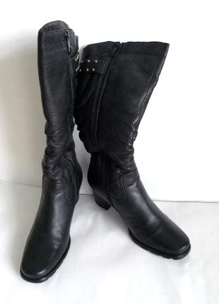 Женские зимние кожаные сапоги на натуральном меху molka