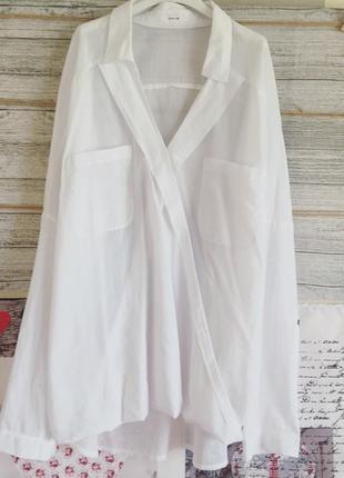 Натуральная рубашка на запахopus