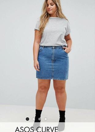 Стильная джинсовая мини-юбка asos