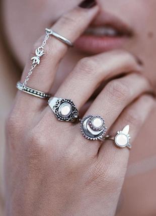 Кольца на фаланги набор колец этно бохо