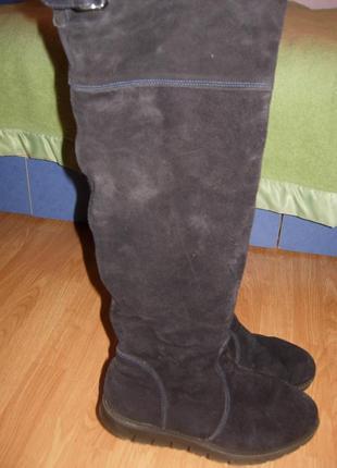 Замшевые зимние высокие сапоги, ботфорты 43, 44, 28,5-29