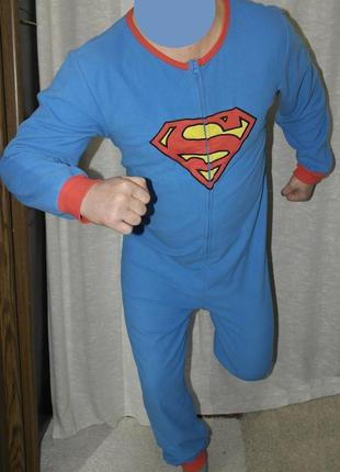 Superman слип кигуруми пижама домашний костюм комбинезон человечек bf50505e8d9ae