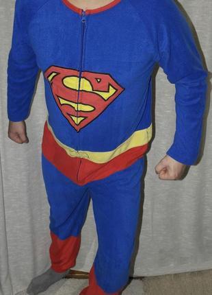 Карнавальный superman слип кигуруми пижама костюм комбинезон человечек 6655d315c5c71