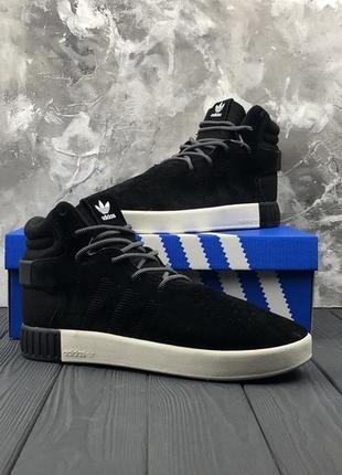 Замшевые мужские кроссовки adidas tubular (41-45)  -20