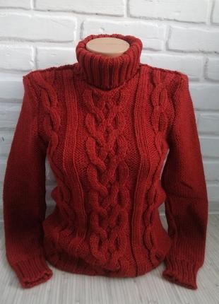 Свитер вязаный с горлом# свитер гольф# теплый вязаный свитер расцветки разные