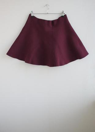 Бомбезная трикотажная юбка солнце клеш от review