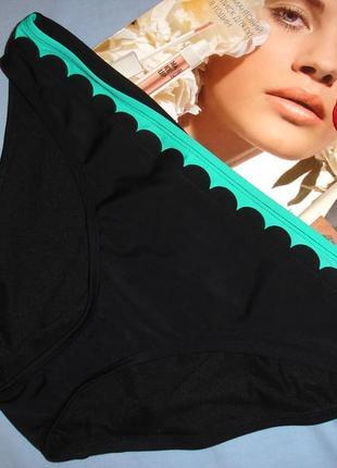 Низ от купальника раздельного женские плавки трусики размер 50-52 / 16 черные бирюзовые