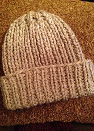 Шапка женская шапка теплая, шапка обьемная