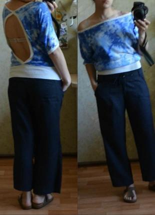 !!!окончательная распродажа!!! летние льняные лен укороченные штаны e-vie