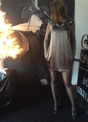 Northland платье-туника спереди 100% шёлк, спина вискоза