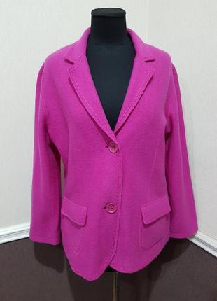 Розовый шерстяной пиджак жакет gerry weber