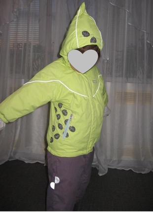 Фирменный демисезонный костюм куртка с полукомбинезоном reima 1,5-2 года {р. 86}