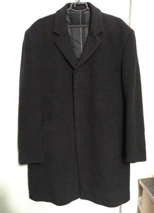 Шерстяное демисезонное пальто парижского бренда daniel hechter, 60 размер