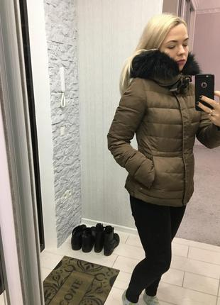 Куртка zara с мехом