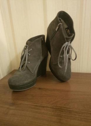 Зимние замшевые ботиночки soldi