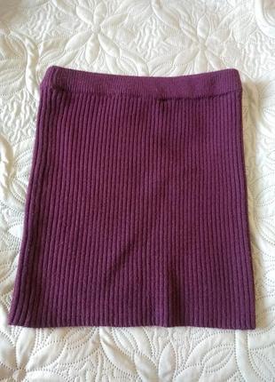Теплая вязанная юбка цвета марсала 10 р selected состояние новой вещи