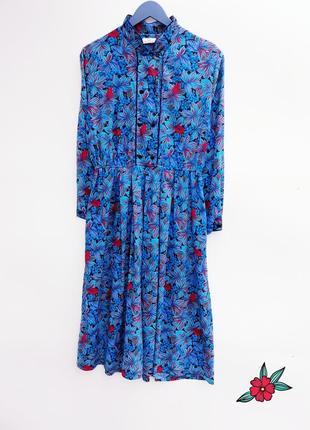 Красивое платье миди на пуговицах стильное платье миди винтаж