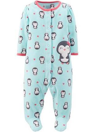 Флисовый человечек пижама картерс carters, новый с биркой!