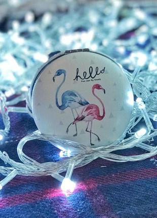Зеркальце с фламинго