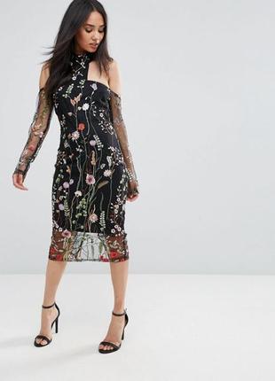 Ax paris розкішна вишита сукня з чокером c1a0553d59f42