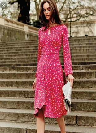 Розовое трикотажное платье boden