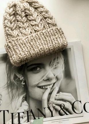 Тёплая шапочка из альпаки доступна к заказу♥