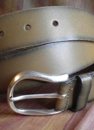 Качественный ремень средней ширины, мягкая кожа vanzetti 90см качество германия