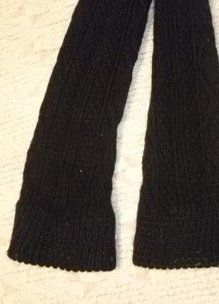 Теплые вязаные лосины-рейтузы крупной вязкой с высокой посадкой,винтаж