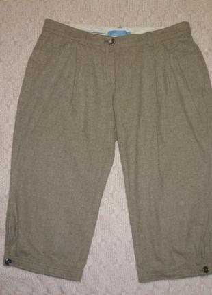 Теплые шерстяные штаны-бриджи-капри в клеточку зимние,винтаж(под высокие сапоги)