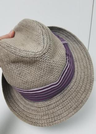 Шляпа соломка на хлопковой подкладке 58 см