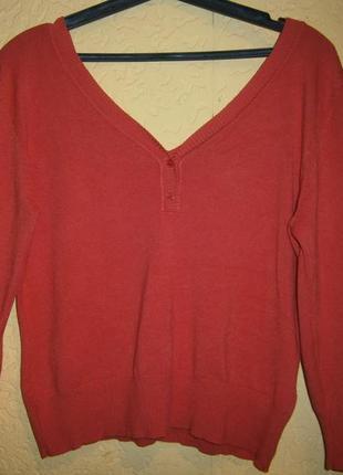 Позитивный мандариновый пуловер