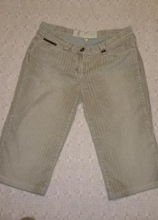 Теплые вельветовые штаны-бриджи-капри осень-зима-весна