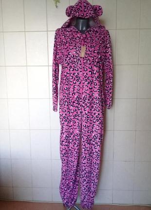 Красивая мягкая теплая домашняя флисовая пижама-кигуруми closer,ра-ра xl/xxl