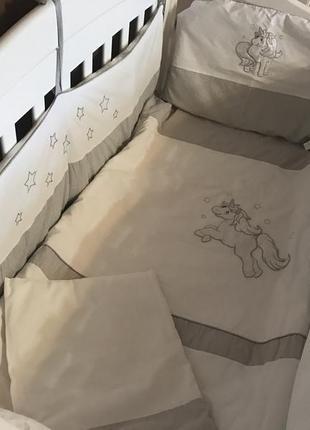 Бортики для детской кроватки защита