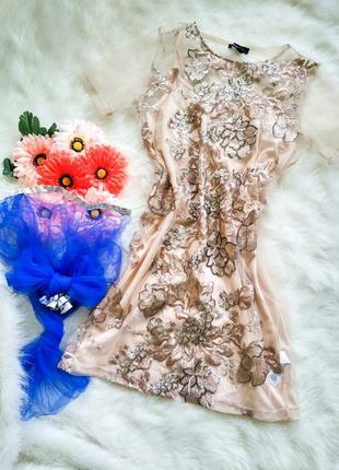 Шикарне плаття new look турція з вишивкою та паєтками