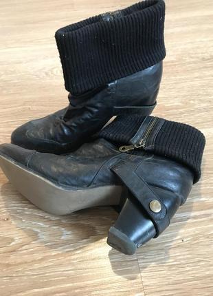 Ботинки rieker оригинал! из натуральной кожи