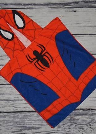 Фирменное детское полотенце пончо с капюшоном спайдермен человек паук