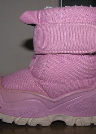 Зимние термоботинки-сапоги quechua bibou baby pink р.26-27, ст. 18 см