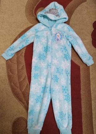 Кигуруми пижама с эльзой  3-4 года