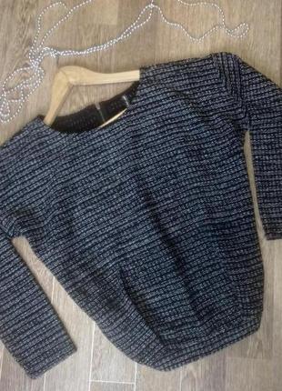 Женственная кофта свитер джемпер с люрексом