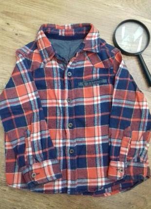 Байковая рубашка на 2-3 года